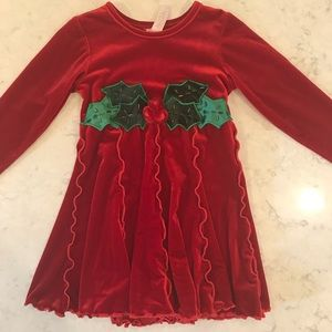 Red and Green Dress- Size 3T